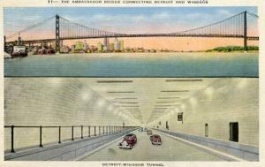 MI - Detroit, Ambassador Bridge & Detroit-Windsor Tunnel