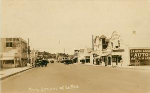 RPPC Postcard Main Street La Mesa CA San Diego County Auto Garage Candy Store