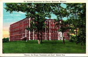 Missouri Savannah Dr Nichols' Sanatorium For Cancer 1928