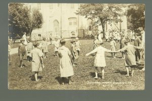 Toledo IOWA RP c1920s JUVENILE HOME Playing Girls ORPHANAGE Orphans Home