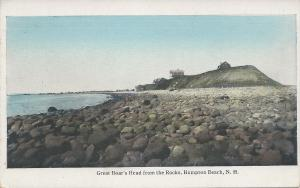 Great Boar's Head From the Rocks, Hampton Beach, N.H., Early Postcard, Unused