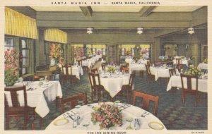SANTA MARIA , California , 1930-40s ; Santa Maria Inn, The Inn Dining Room