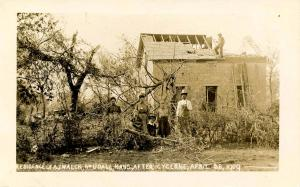 KS - Udall. April 28, 1909. A.J.Walck Residence after Cyclone.  *RPPC