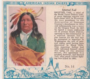 TC: RED MAN Chewing Tobacco Trade Card , 1890s ; American Indian Chiefs ; SPO...