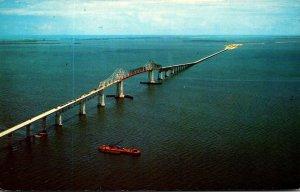 Florida St Petersburg Sunshine Skyway Bridge 1964