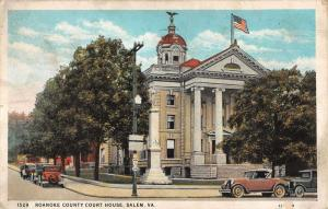 Salem Virginia Roanoke Court House Street View Antique Postcard K42440