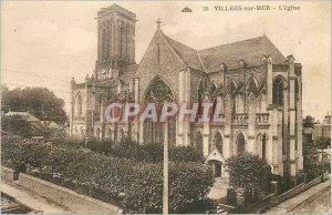 Old Postcard Villers sur Mer The Church