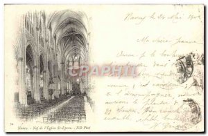 Old Postcard Nancy Nave From & # 39Eglise St Epvre