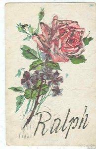 pc7498 postcard Ralph name card postally used 1906