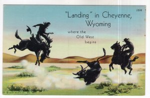 Landing in Cheyenne, Where the Old West begins
