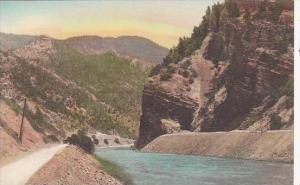 Colorado Glenwood Springs Mouth Of Glenwood Canon Albertype