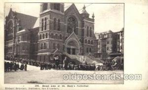 Bread Line, St. Mary's Cathedral, San Francisco, California, USA Disaster, Wr...