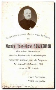 Sir pious image Yves Marie Schliesbuch Honorary Canon Former rector of St. Ch...