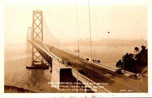 California San Francisco-Oakland Bay Bridge View From Yerba Buena Island Real...