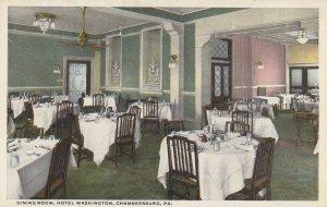 CHAMBERSBURG , Pennsylvania , 1910s ; Dining Room , Hotel Washington