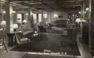 Whitefield NH Lounge of Mountain View House Real Photo Postcard