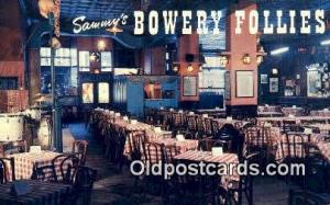 Sammy's Bowery Follies Restaurant, New York City, NYC Postcard Post Card USA ...