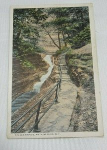 1927 SYLVAN RAPIDS Walkway WATKINS GLEN New York City Vintage Postcard