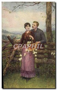 Old Postcard Brownscombe The dream of young love & # 39un