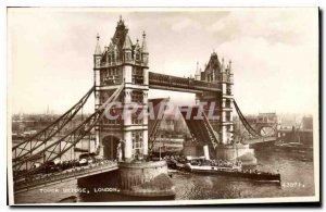 Old Postcard Tower Bridge London Boat