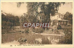 Postcard Old Vichy Basin in New Parks