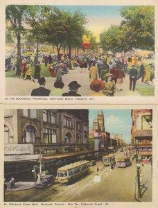On The Boardwalk Toronto St Catherines Street West 2x Postcard s
