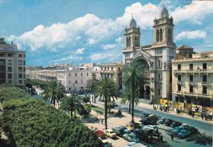TUNIS. La Cathedrale , PU-1974
