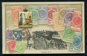 Stamp Postcard Kapunda South Australia unposted street view scene
