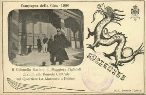 china, BOXER REBELLION, Italian Colonel Garioni Major Agliardi Peking 1900 Black