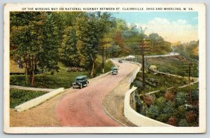 Wheeling West Virginia~US Route 40 to St Clairsville Ohio~National Highway~1932