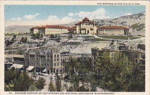 South Dakota Black Hills Hot Springs Business Portion and National Sanitarium