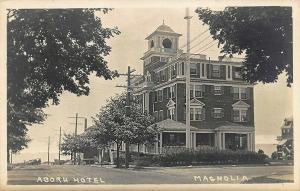 Magnolia MA Acorn Hotel Real Photo Postcard