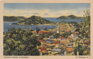St Thomas View Of Charlotte Amalie 1948