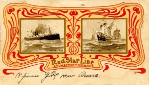 Red Star Line - Vaderland, Santa Maria.  Artist: Cassiers  (Private Mailing C...