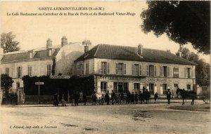 CPA GRETZ-ARMAINVILLIERS - Le Cafe Restaurant au Carrefour (292945)