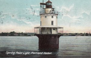 Spring Point LIGHTHOUSE , Portland Harbor , Maine , 1906