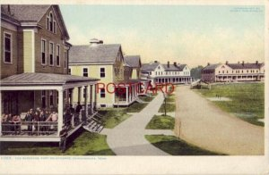 THE BARRACKS, FORT OGLETHORPE, CHICAMAUGA, TENN. Phostint by Detroit Publ. Co