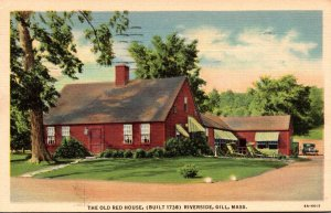 Massachusetts Gill Riverside The Old Red House Tea Room 1953 Curteich