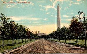 Washington D C The Speedway and Washington Monument