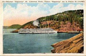 Canada - Steamer Saguenay