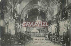 Old Postcard Paray le Monial Interior of the Chapel