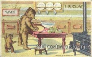 Thursday William Heal, Heal Days of the Week, Bear Postcard Bears, tragen pos...