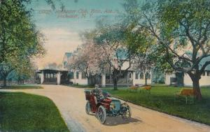 Old Auto at Rochester Club on East Aveune, Rochester, New York - pm 1914
