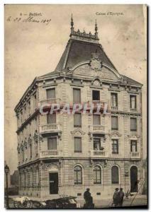 Old Postcard Belfort Bank Caisse d & # 39Epargne