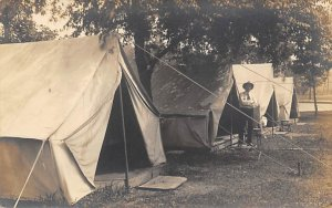 Boy Scout Camp Unused real photo