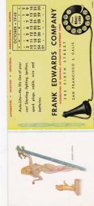 Pin-up Ink Blotter , ADAM'S APPLE , 1948