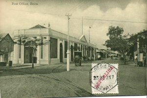 PC CPA MOZAMBIQUE, BEIRA, POST OFFICE, Vintage Postcard (b24899)