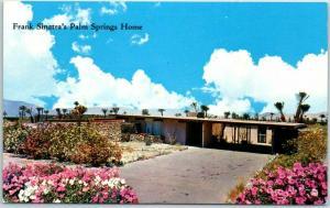 Palm Springs, California Postcard Frank Sinatra's Home Chrome c1960s Unused