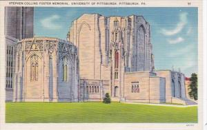 Pennsylvania Pittsburgh Stephen Collins Foster Memorial University Of Pittsburgh