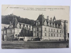 Villandry Le Chateau The Castle Black and White B&C France Postcard A10